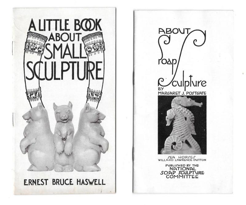Small Soap Sculpture Lot of 2 Booklets Haswell Postgate