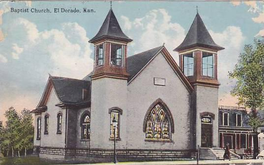 Baptist Church , El Dorado , Kansas , PU-1915