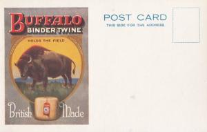 Buffalo Binder Twine Poster British Mad Antique Advertising Postcard