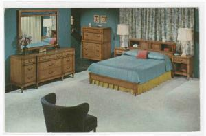 Bedroom Display Furniture Industries of America New York City postcard
