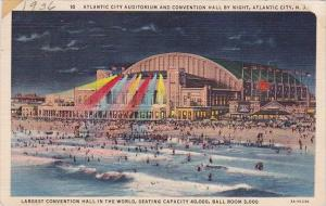 New Jersey Atlantic City Auditorium And Conventon Hall By Night