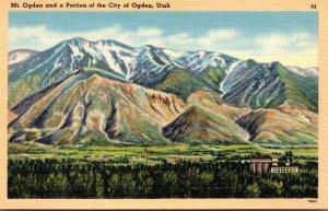 Utah Ogden Mount Ogden and A Portion Of The City