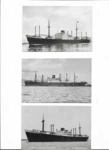 Java China Line RPPC Ships Postcard lot of 6 01.13