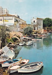 Gandia Fishing Boats on Saint St Nicolas River Spanish Postcard