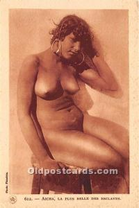Arab Nude Postcard Aicha, La Plus Belle Des Esclaves Unused