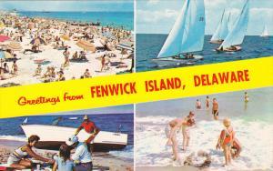 4-view postcard , FENWICK ISLAND , Delaware , 40-60s