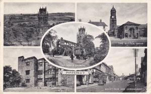 5-view postcard , PONTEFRACT , Yorkshire , England , 1950