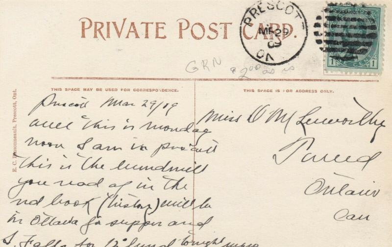 Windmill Point , PRESCOTT , Ontario , Canada , 1909 : #4