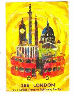 Advertisement, See London on a Transport Sightseeing Bus Tour, England, Unite...