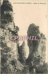 Old Postcard Montpellier Old Rock Proserpine