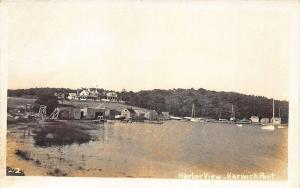 Harwich Port Harbor View Shore Front Cape Cod Real Photo Postcard