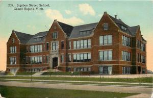 Grand Rapids Michigan~Sigsbee Street School~Federal Style~Dormer Windows~1908