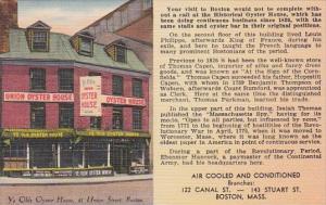 Ye Olde Union Oyster House Restaurant Boston Massachusetts