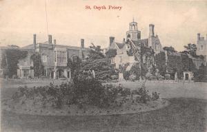 ESSEX UK ST OSYTH PRIORY~M & R SERIES POSTCARD 1906 PMK