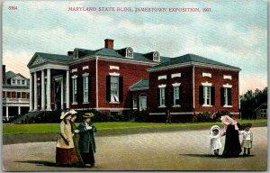 1907 JAMESTOWN EXPOSITION Norfolk World's Fair Postcard Maryland State Bldg.