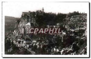 Postcard Old Ocean Pyrlnees Rocamadour general view of the city and the Sanct...