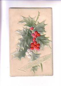 Layered Embossed, Holly and Berries, New Year, Strauss & Miller, Made in Germany