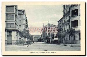 Old Postcard Pamplona Avenida San lgnacio