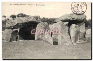 Old Postcard Dolmen Menhir Carnac Dolmen mane Kerioned