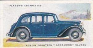 Player Cigarette Card Motor Cars 2nd Series No 6 Austin Fourteen Goodwood Saloon