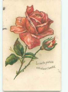 Very Old Foreign Postcard BEAUTIFUL FLOWERS SCENE AA4917