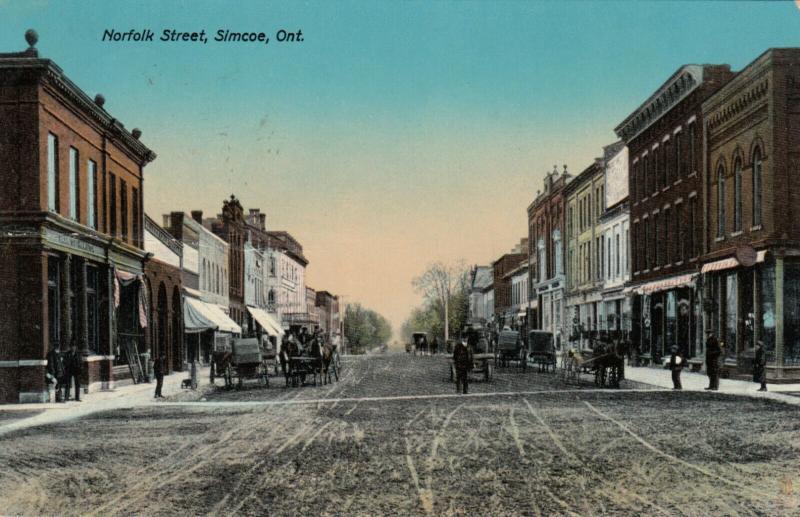 SIMCOE , Ontario , Canada , 1914; Norfolk Street ; TUCK 1024