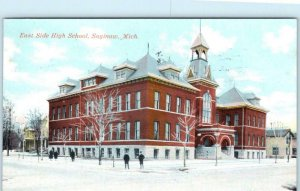 SAGINAW, Michigan  MI  ~ EAST SIDE HIGH SCHOOL  1911    Postcard