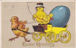 EASTER : Chick cart w/ egg , PU-1912