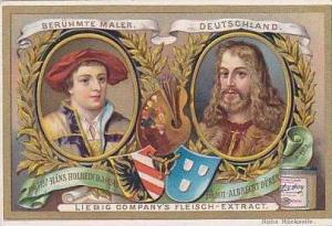 Liebig Vintage Trade Card S489 Famous Painters 1896 Hans Holbein & Albrecht D...
