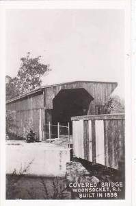 Rhode Island Woonsocket Covered Bridge Real Photo