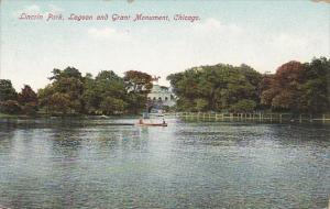Illinois Chicago Lincoln Park Lagoon And Grant Monument