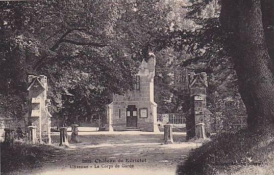 Chateau de Keriolet, L'Avenue, Le Corps de Garde, Concarneau, Finistere, Fran...