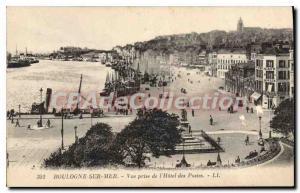 Old Postcard Boulogne sur Mer shooting hotel Post