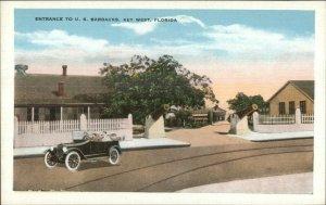 Key West FL Barracks Entrance c1920 Postcard