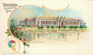1904 Worlds Fair Expo Postcard St. Louis MO Palace of Education unposted nice