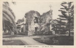 LA JOLLA, California, 1910-20s; St. James Cathedral