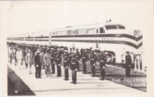 The Freedom Train Spirit Of 1776 With Marines In Dress Uniform Real Photo