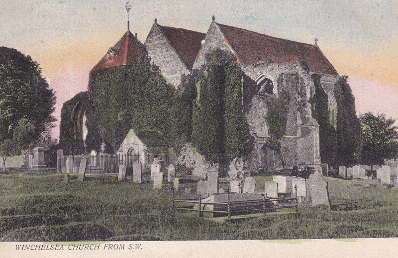 WINCHELSEA, Sussex, England, 1900-1910s; Winchelsea Church From S. W.