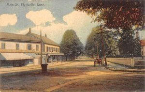 Plantsville Connecticut horse and buggy on Main Street antique pc ZE686146