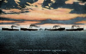 MI - Ludington. Marquette Fleet of Car Ferries