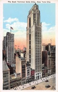 Bush Terminal Sales Building, Manhattan, New York City, Early Postcard, Unused