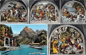 Switzerland Tellskapelle mir Gitschen und Urirotstock, Tellsprung, multiviews