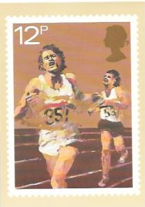 England 1980. Stamp image on front, Unused. Sports - Running