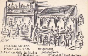 Drury Lane Restaurant New York City 1956