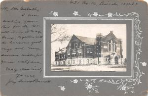 B32/ Lincoln Nebraska Ne Real Photo RPPC Postcard Early 1903 Church Building