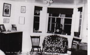 Vermont Plymouth Room In Which Calvin Coolidge Was Born Real Photo