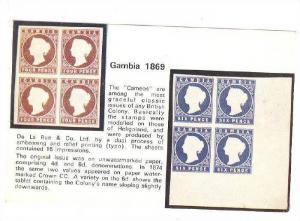 Cameos, Four Pence and Six Pence, Gambia, PU-1969