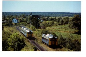 VIA Rail Passenger Train, Merigomish, Nova Scotia, 1982