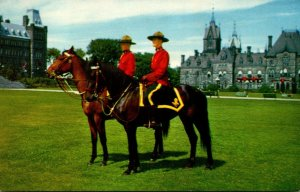 Canada Mounties On Horseback