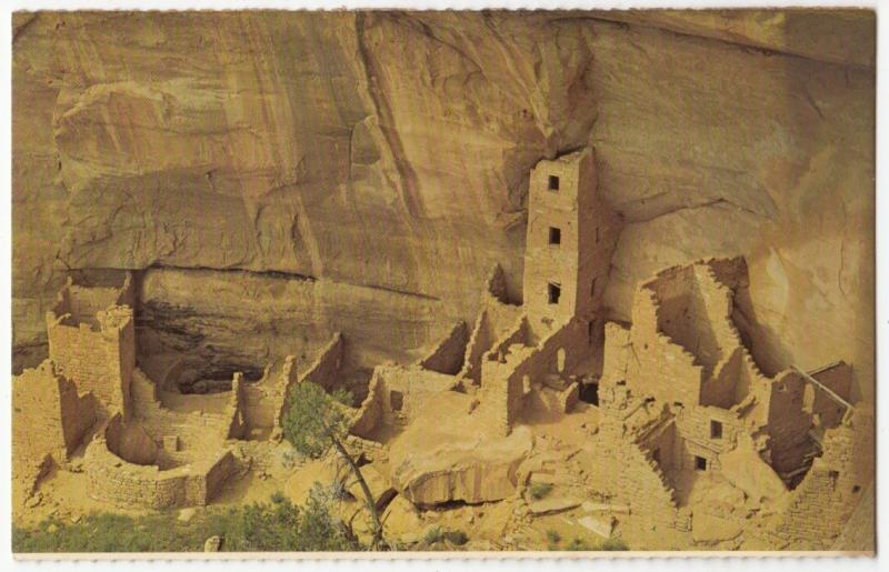 Square Tower House, Mesa Verde National Park, Colorado, unused Postcard